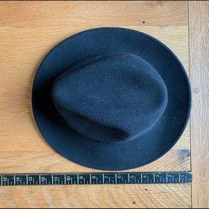 Black Vintage Wool Hat